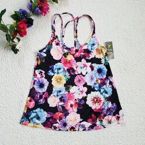 Old Navy Floral Tank Pink Women's Small Strappy